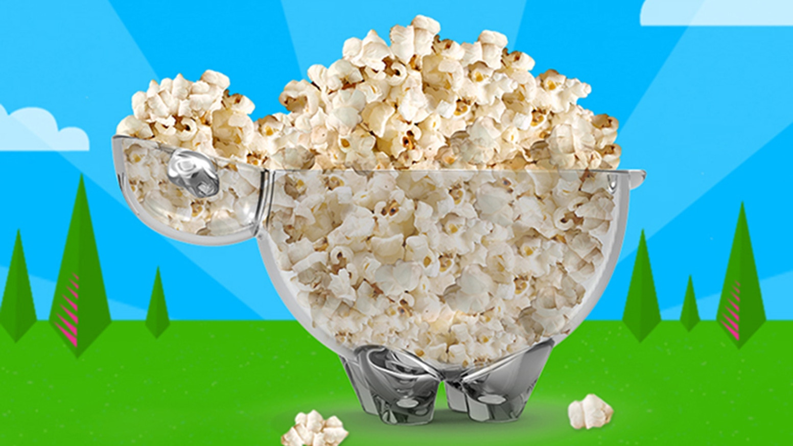 SHEEPOPCO is a premium popcorn bowl that will make your popcorn time much more fun!