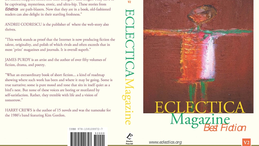 Eclectica Magazine 20th Anniversary Anthologies project video thumbnail