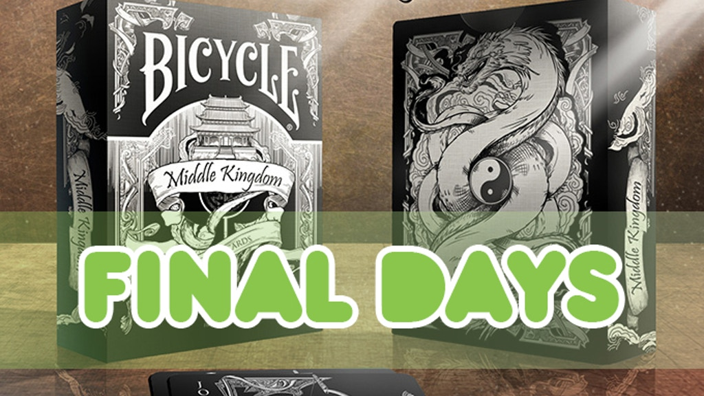 Middle Kingdom- Black Deck Bicycle® Playing Cards project video thumbnail