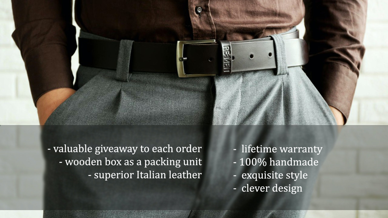 Remen handmade lifetime guaranteed leather belt by - How long do modular homes last ...