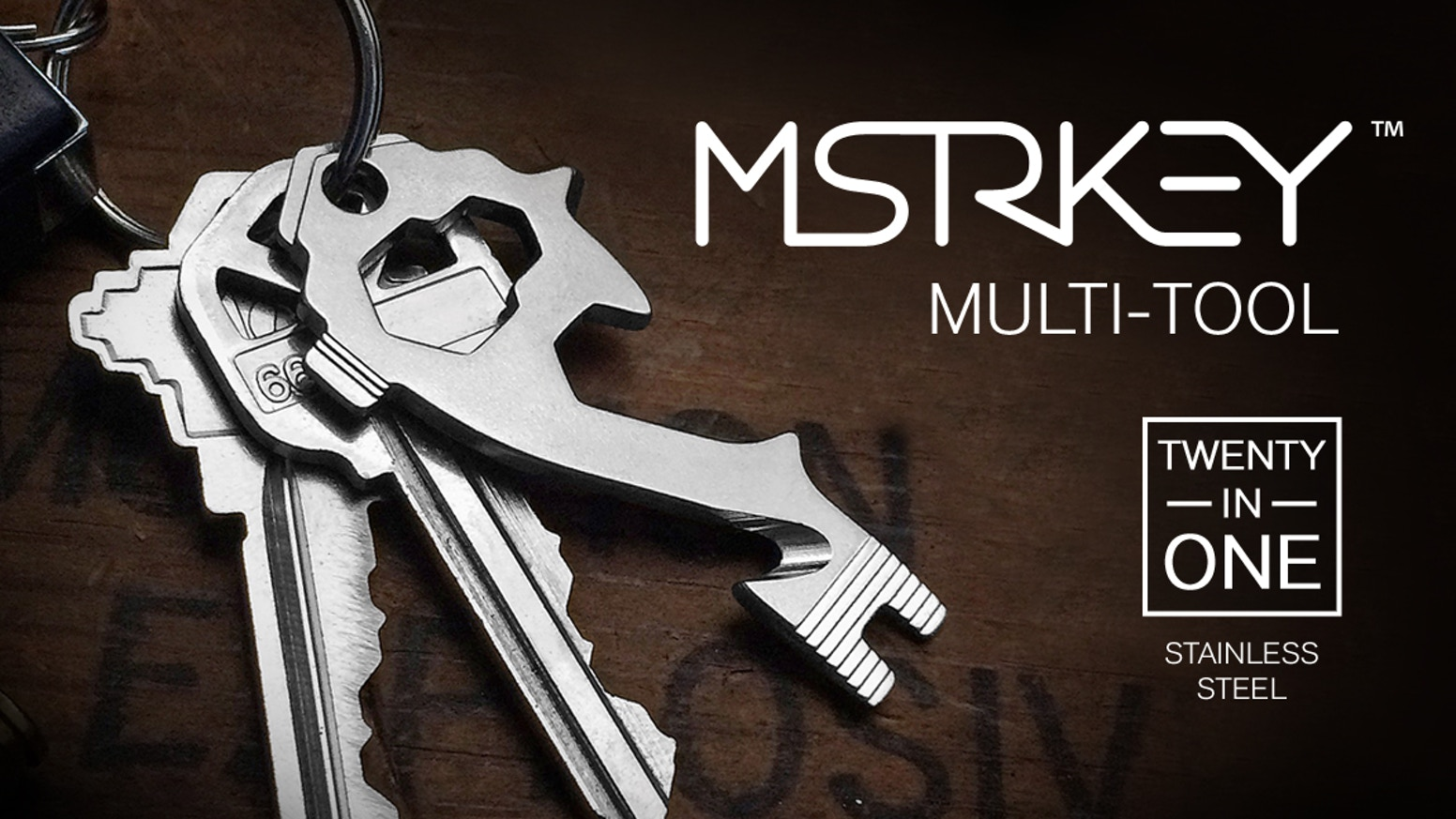 With 20 practical functions, our beautifully crafted key-sized, key-shaped, multitool enhances your everyday carry without adding bulk.