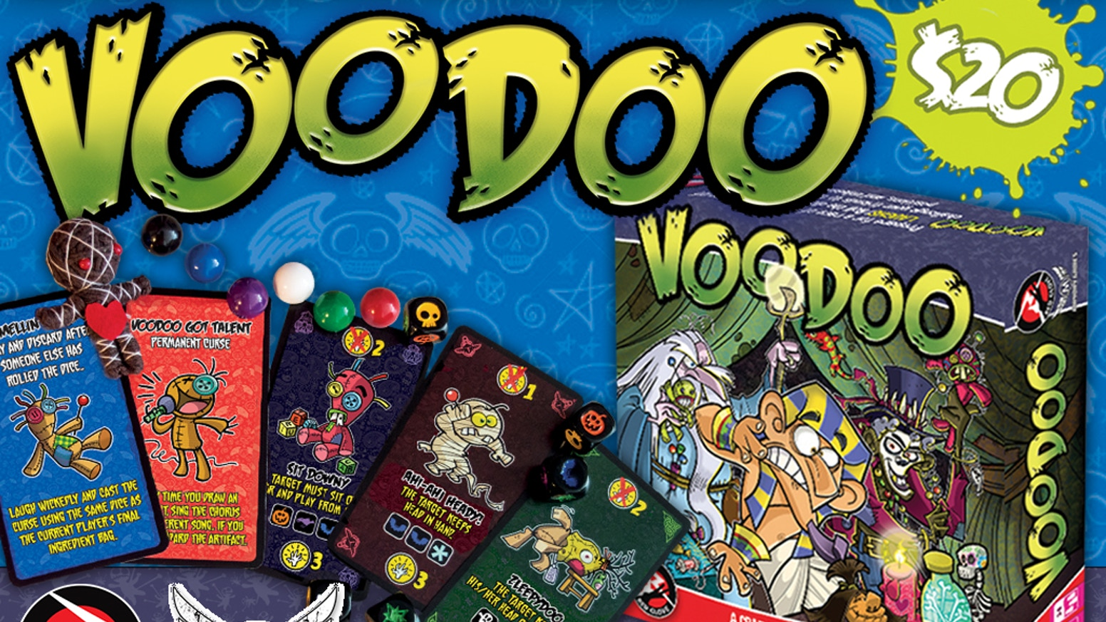 Voodoo is a fast, fun party game for 3-6 players. Curse other players into performing crazy antics and hope they slip up!