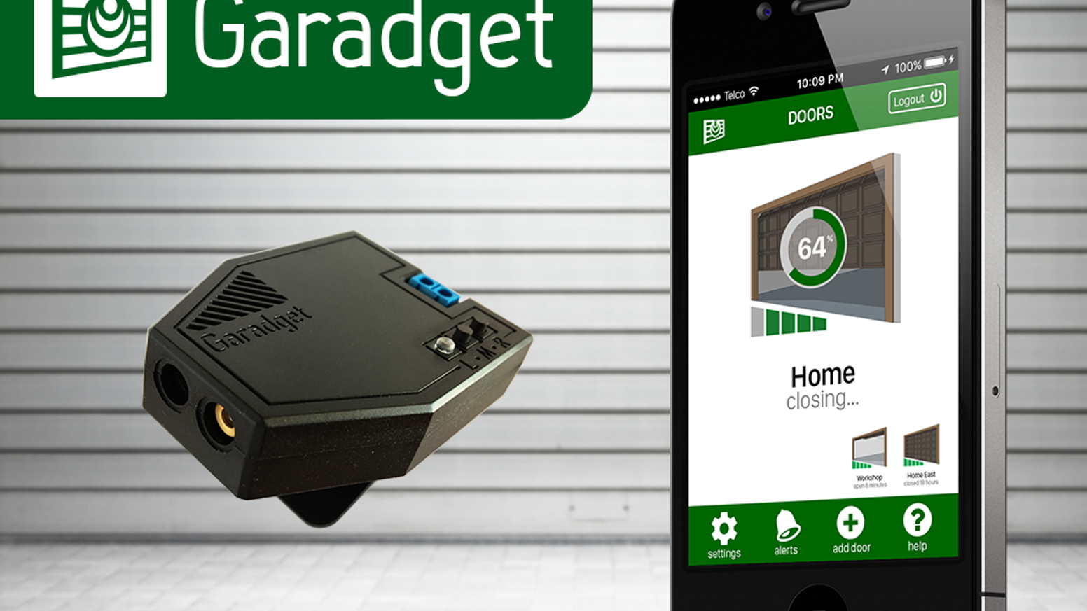 Garadget garage door futurizer by softcomplex kickstarter cloud enabled controller for existing garage doors monitor and operate your garage doors from rubansaba