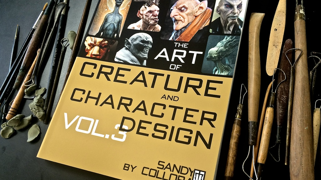 Character Design Kickstarter : The art of creature and character design volume by sandy
