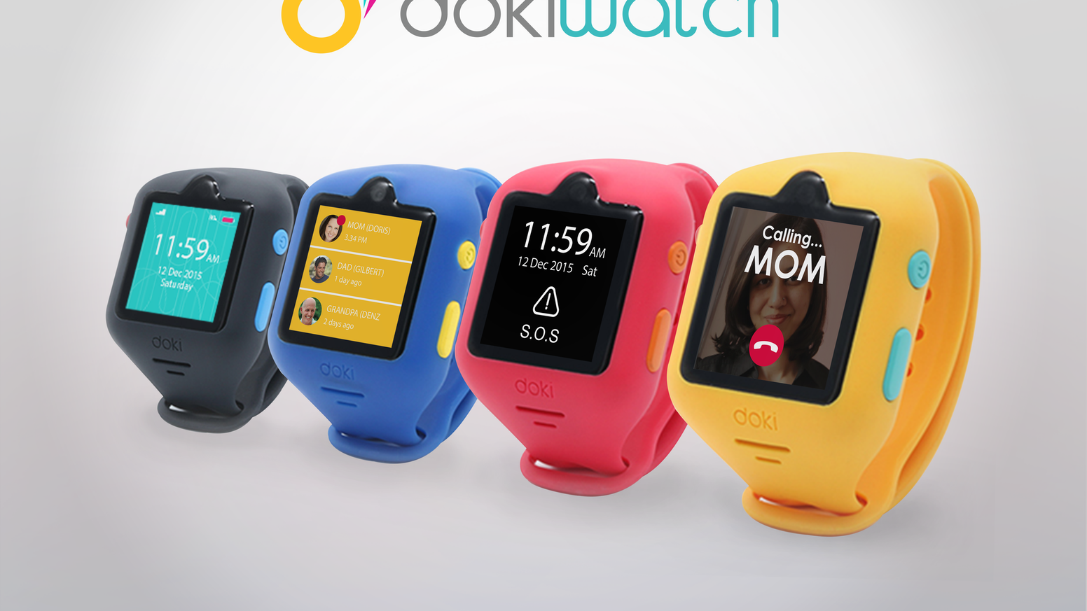 dokiWatch: The first-ever smartwatch for kids to feature video calling. It's an all-in-one wearable phone, GPS locator, fitness tracker, and more!