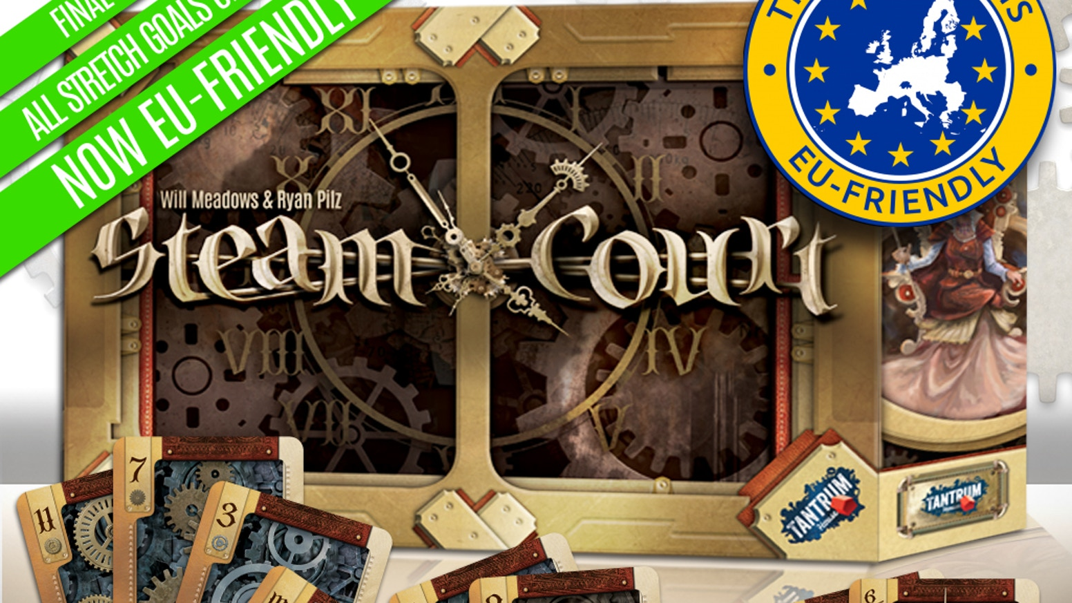 Steam Court (Relaunched) by Tantrum House » Shipping update
