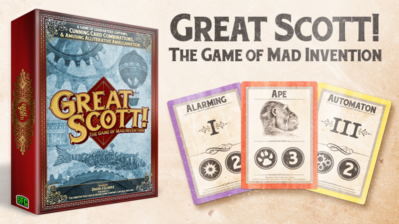 Become the greatest inventor of the Victorian age in this fun social card drafting game for 3-5 players.