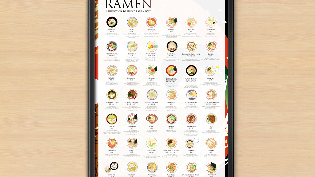 A new jumbo-sized ramen guide with 42 Japanese ramen recipes with distinctive regional flavors in Japan.
