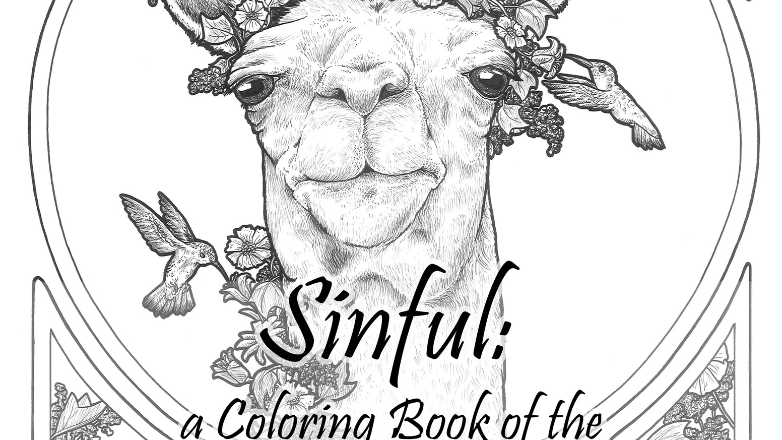 Sinful a coloring book of the seven deadly sins