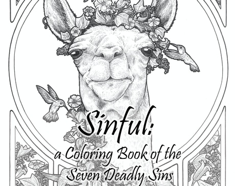 Fascinating Funny And Foul Creatures Embody The Seven Deadly Sins In An Art Nouveau