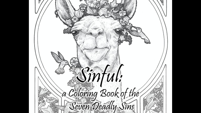 Sinful: a Coloring Book of the Seven Deadly Sins by
