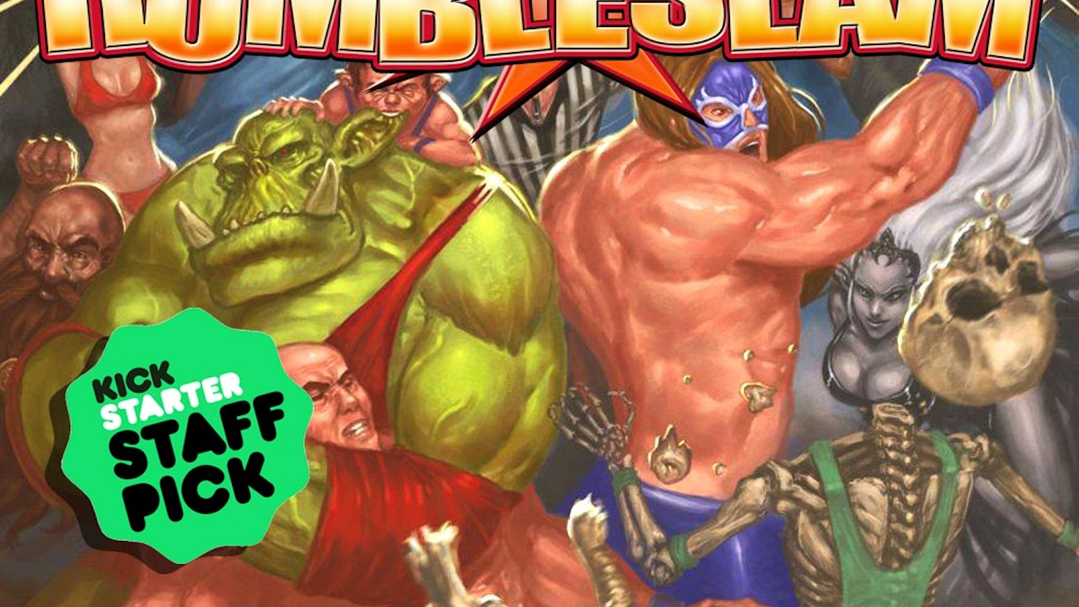RUMBLESLAM! The fast and fun tabletop miniature game of fantasy wrestling.