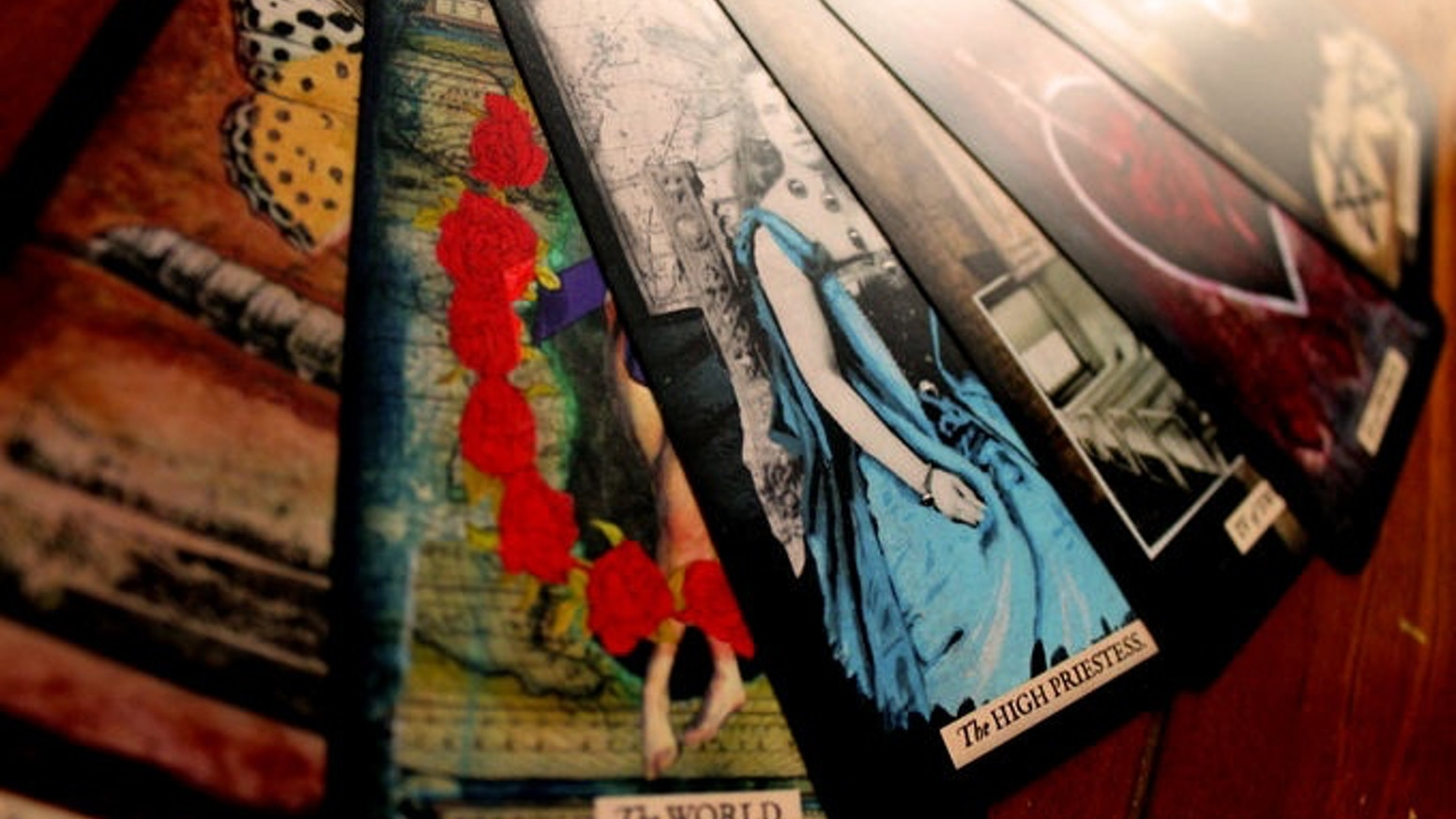 'The Stretch Tarot' is a mixed-media tarot deck by first time creator, J.E. Stretch
