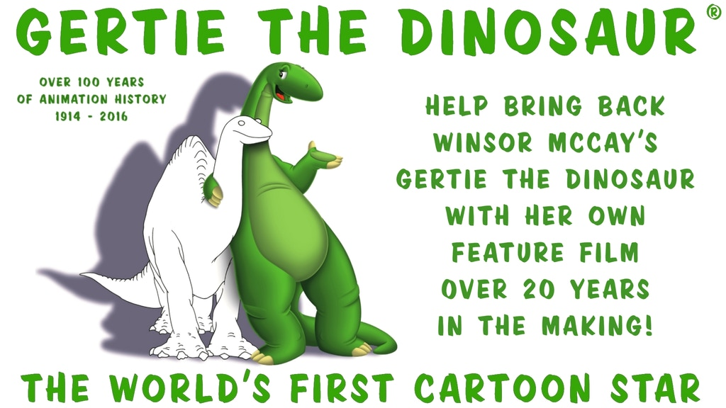 Project image for Help bring back GERTIE THE DINOSAUR Feature Film Project