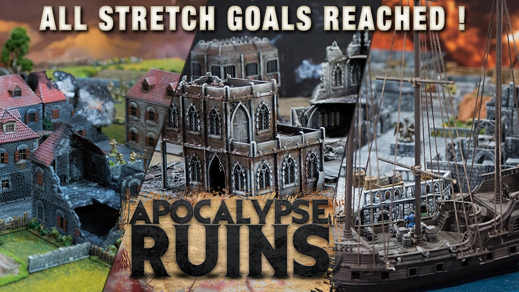 APOCALYPSE RUINS - Modular gaming ruins for Wargames and RPG project video thumbnail