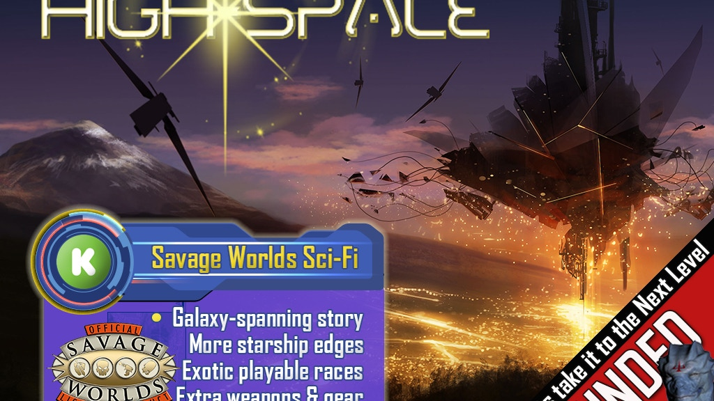 HIGH-SPACE the Sci-Fi tabletop RPG for Savage Worlds project video thumbnail