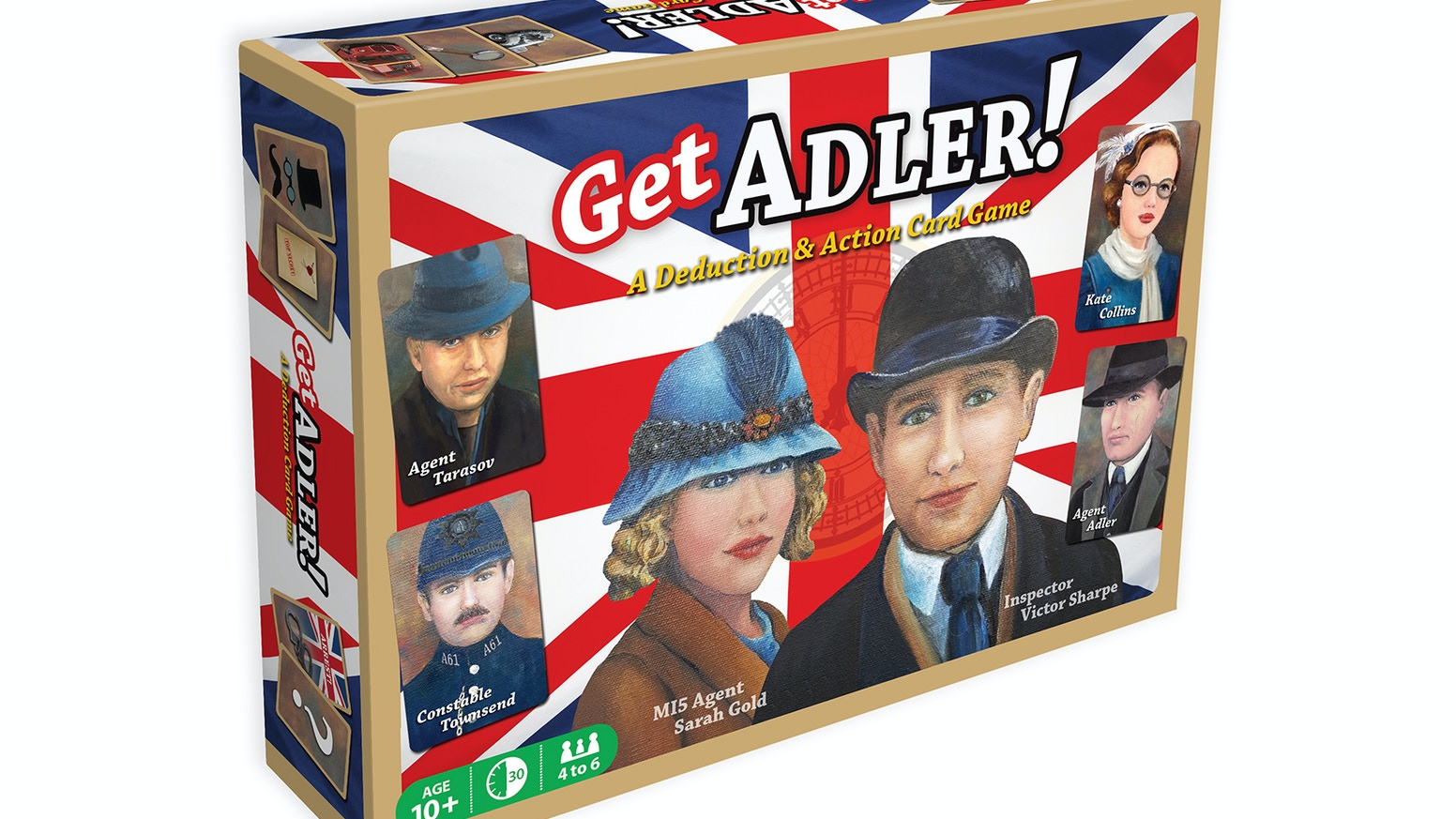 Get Adler! is a 4 - 6 player social deduction card game. This quick & fun hidden identity game is set in London, England - 1937