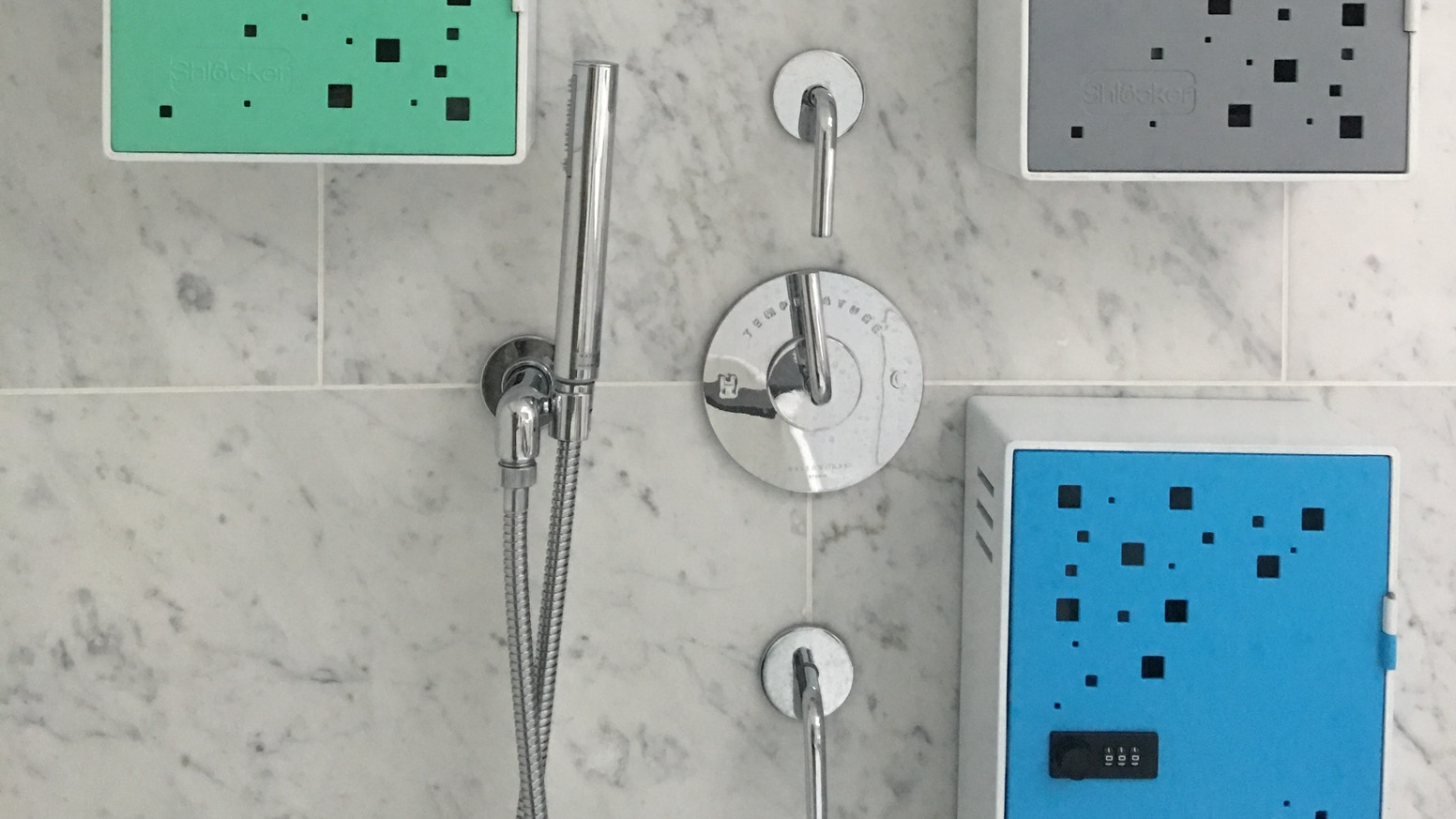 The Shlocker allows you to keep your products in the shower AND safe from roommates, housemates or siblings!