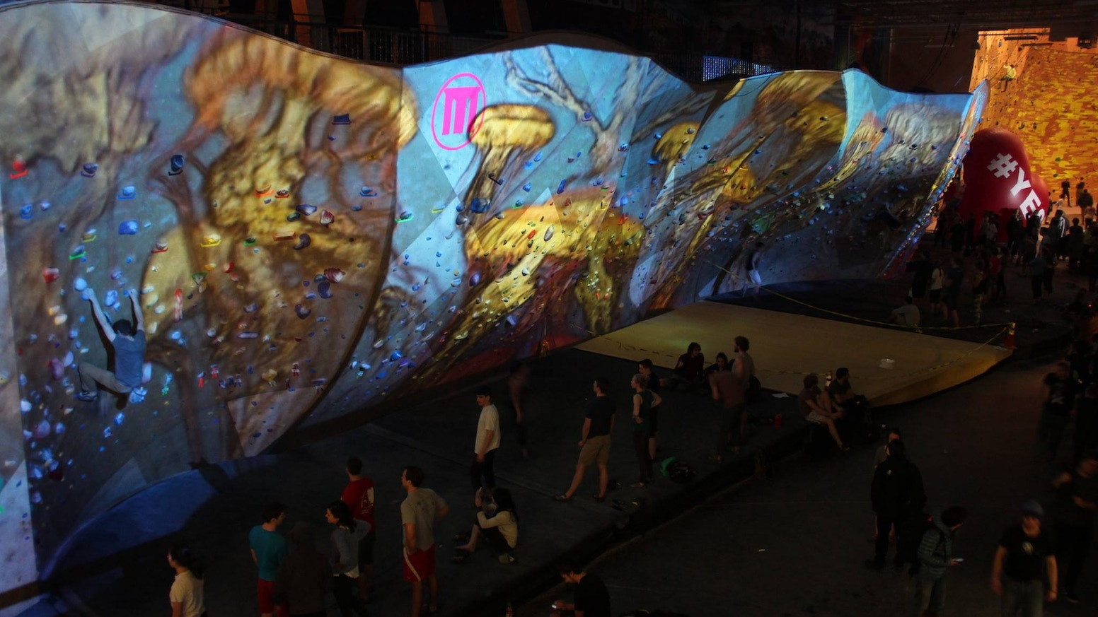 An interactive community experience at the Somerville Brooklyn Boulders. Interact and control the video with your smartphone.