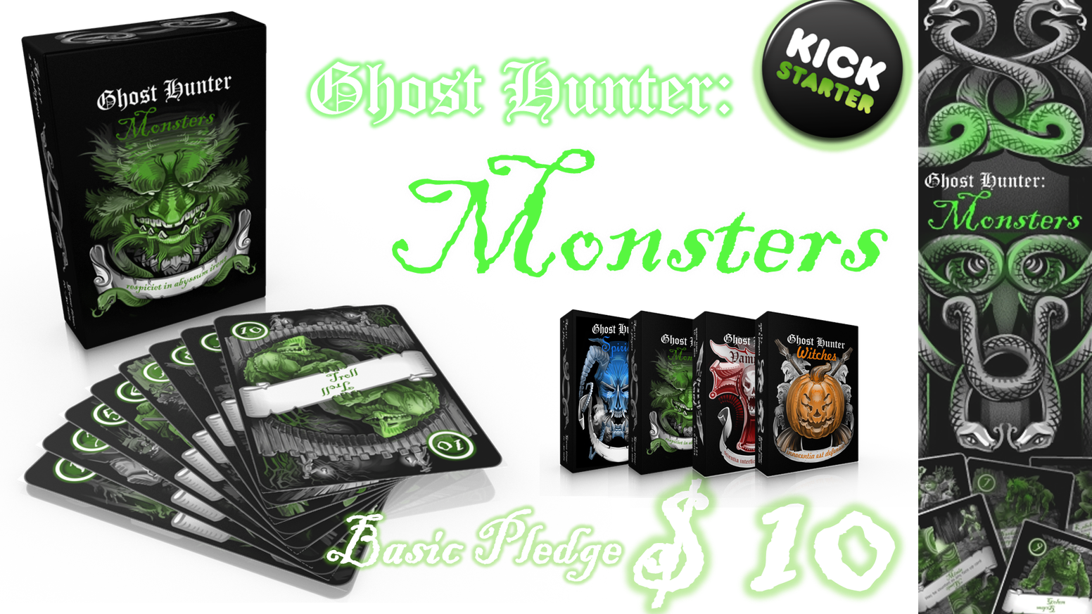 Hunt folkloric creatures in a gentlemen's contest that spans the globe in this latest Ghost Hunter deck for 2-6 players.