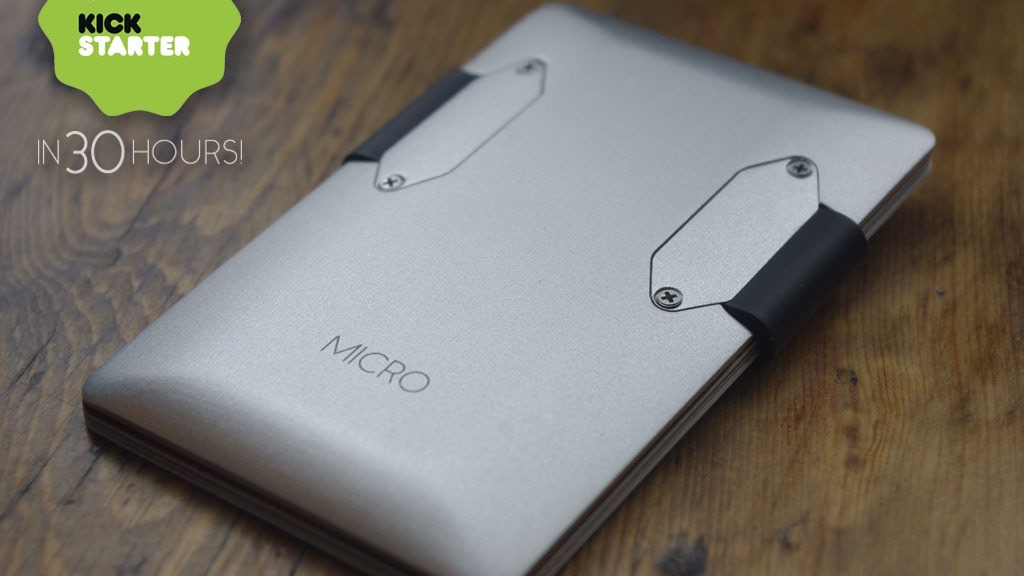 MICRO - The MOST beautiful minimalist wallet EVER! project video thumbnail