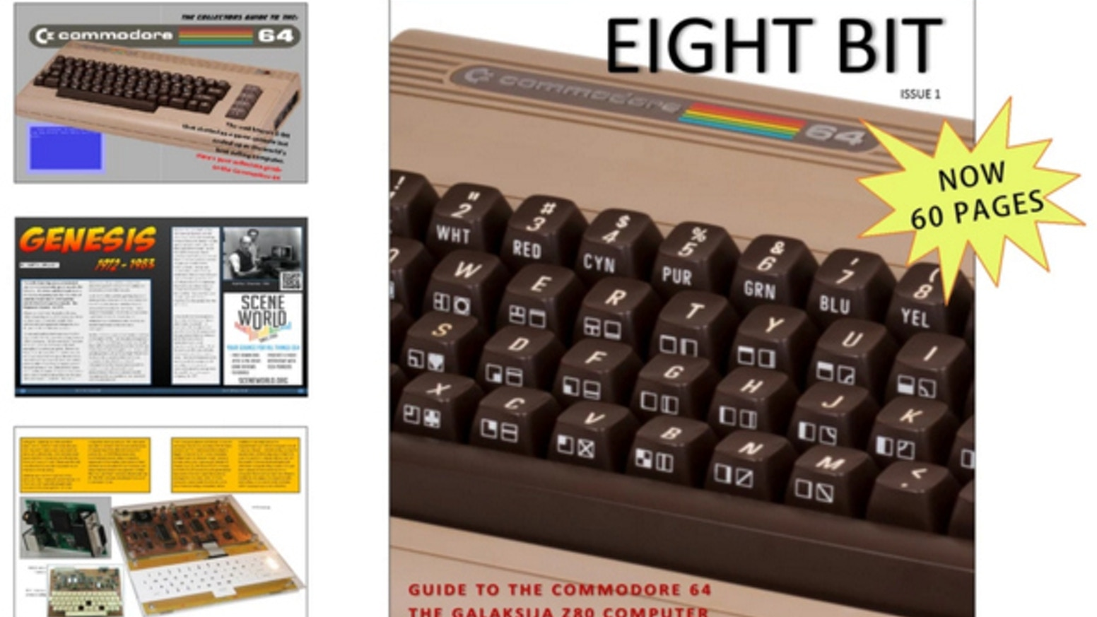 A full colour printed magazine covering all topics regarding eight bit microcomputers from the 70's to the early 90's.