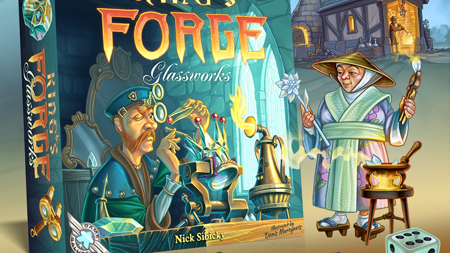 A classy new expansion for King's Forge. Gather and craft items with a new material... glass!