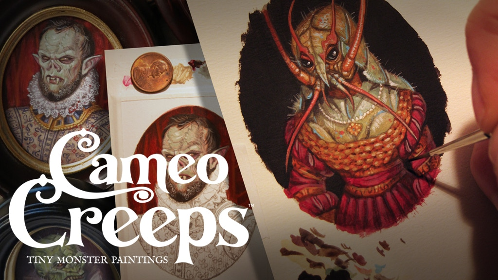 Cameo Creeps: Tiny Monster Paintings project video thumbnail