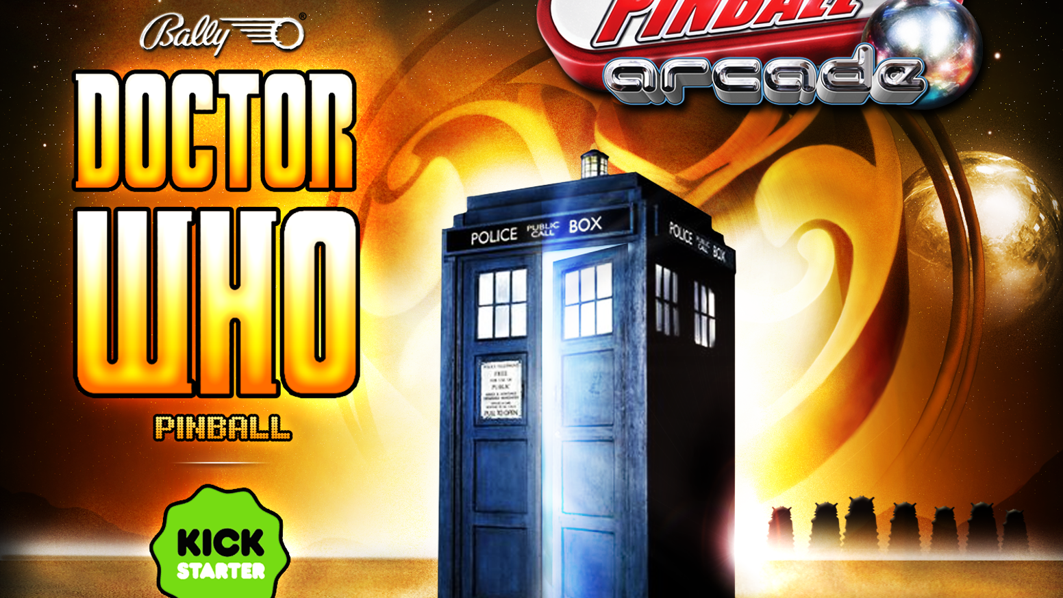 Help us bring the Doctor Who® pinball table to game consoles and mobile devices for a whole new generation to enjoy!