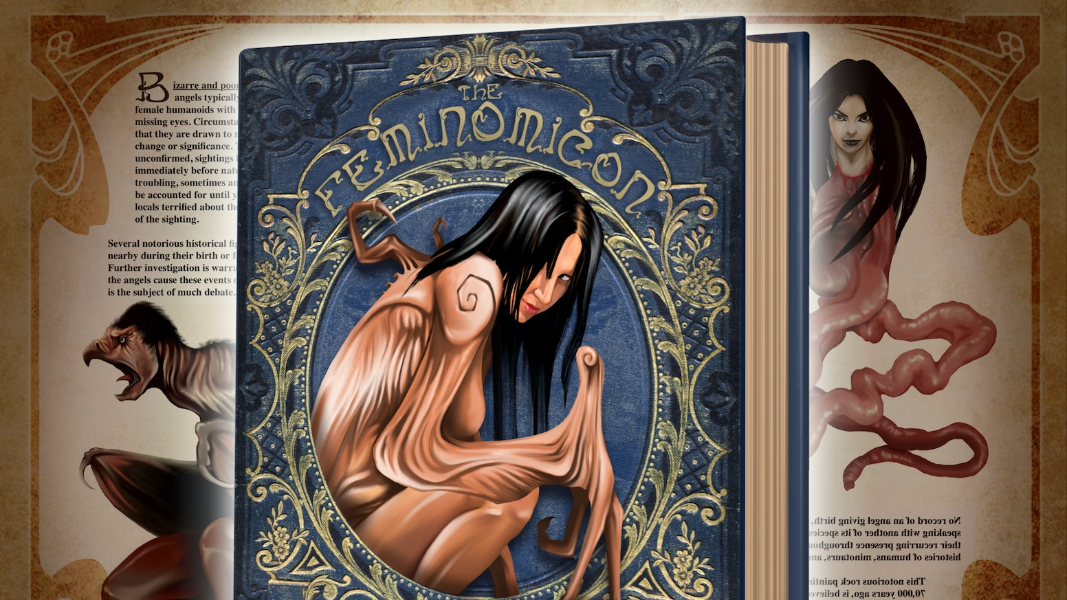 A fantasy-art style bestiary of incredible female myths and monsters from around the world. Now fully funded!