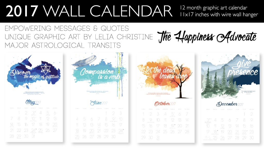 Calendar Design Quote : The happiness advocate wall calendar by lelia