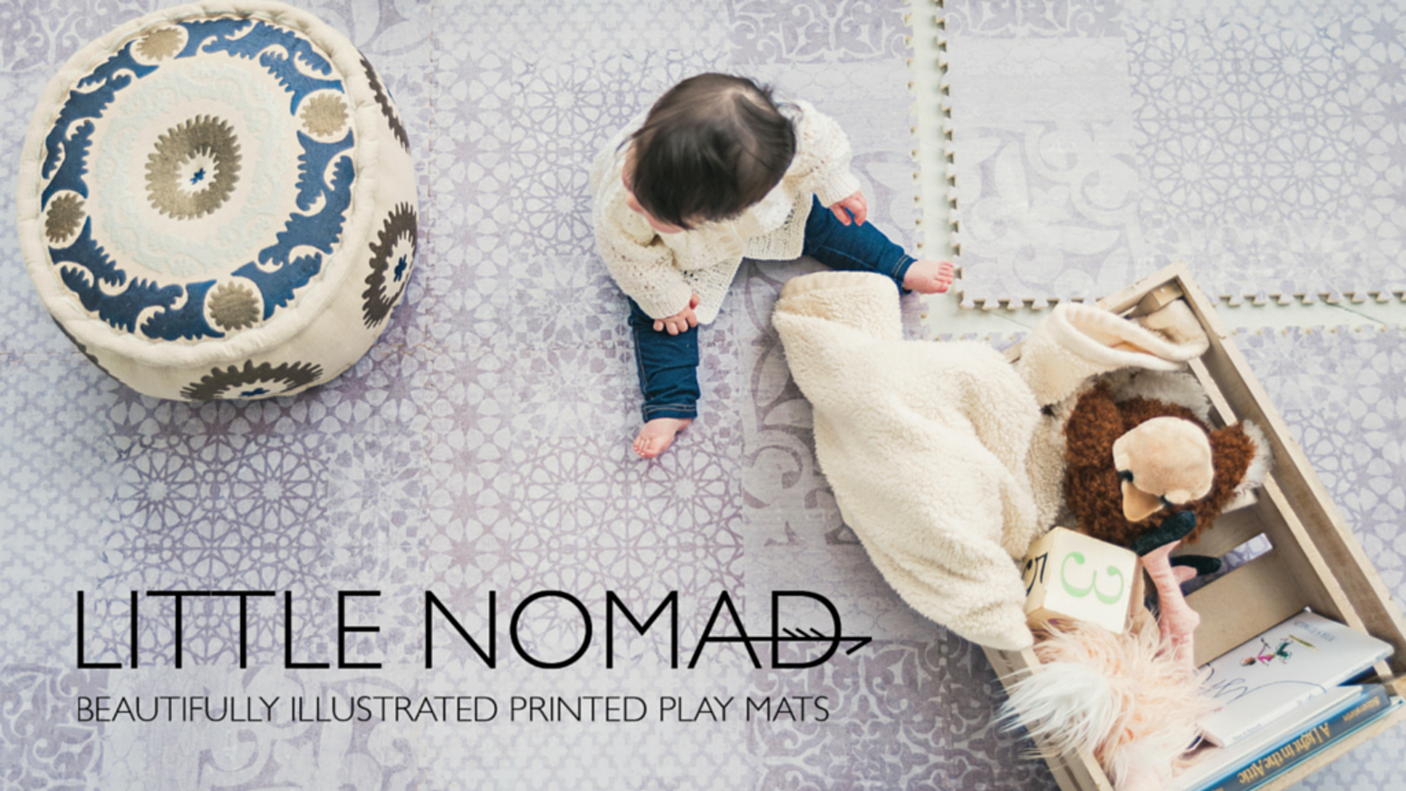Little Nomad Beautifully Illustrated Printed Play Mats By Little - Styrofoam floor mats