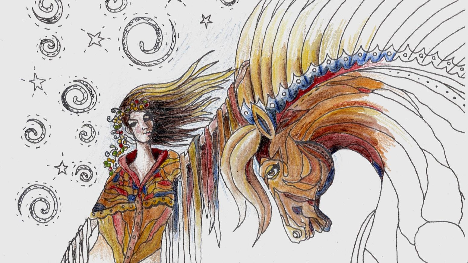 Spirit Horse Coloring Book by Diana Lancaster — Kickstarter