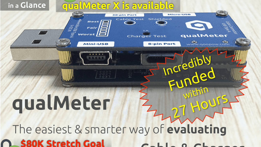 qualMeter:Finally a Smart USB Cable/Charger Tester for Dummy project video thumbnail