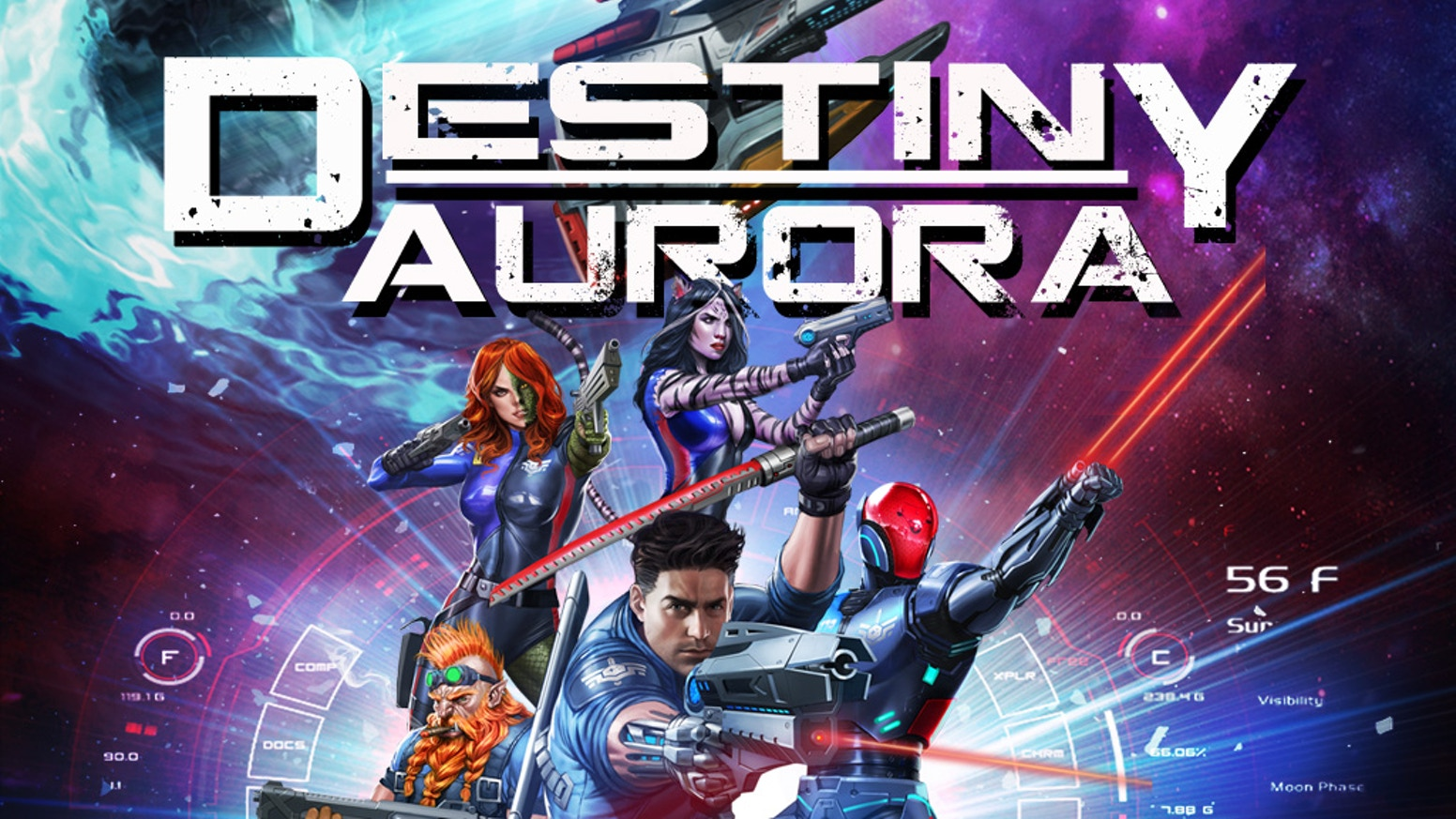 Destiny Aurora is the story of an eclectic, dysfunctional crew of an intergalactic police ship, whose captain is completely unorthodox.