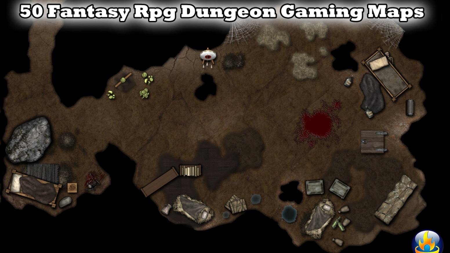 50+ Fantasy RPG Dungeon Gaming Maps by It's Just Soup Studios » Ok on