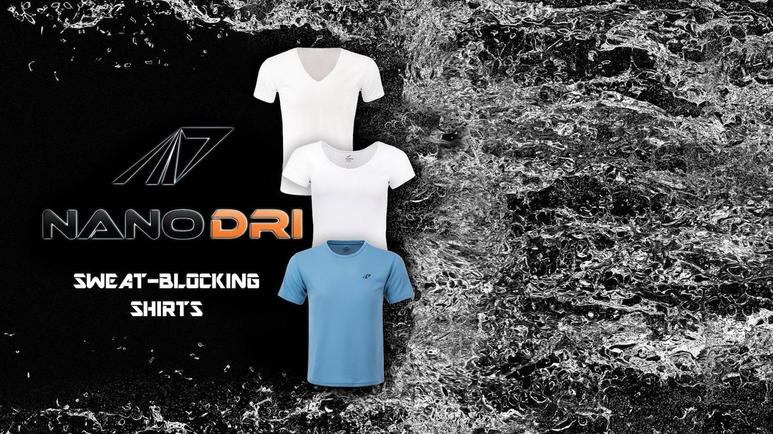 Nanodri Sweat Blocking Shirts From Japan By Progenomics Llc
