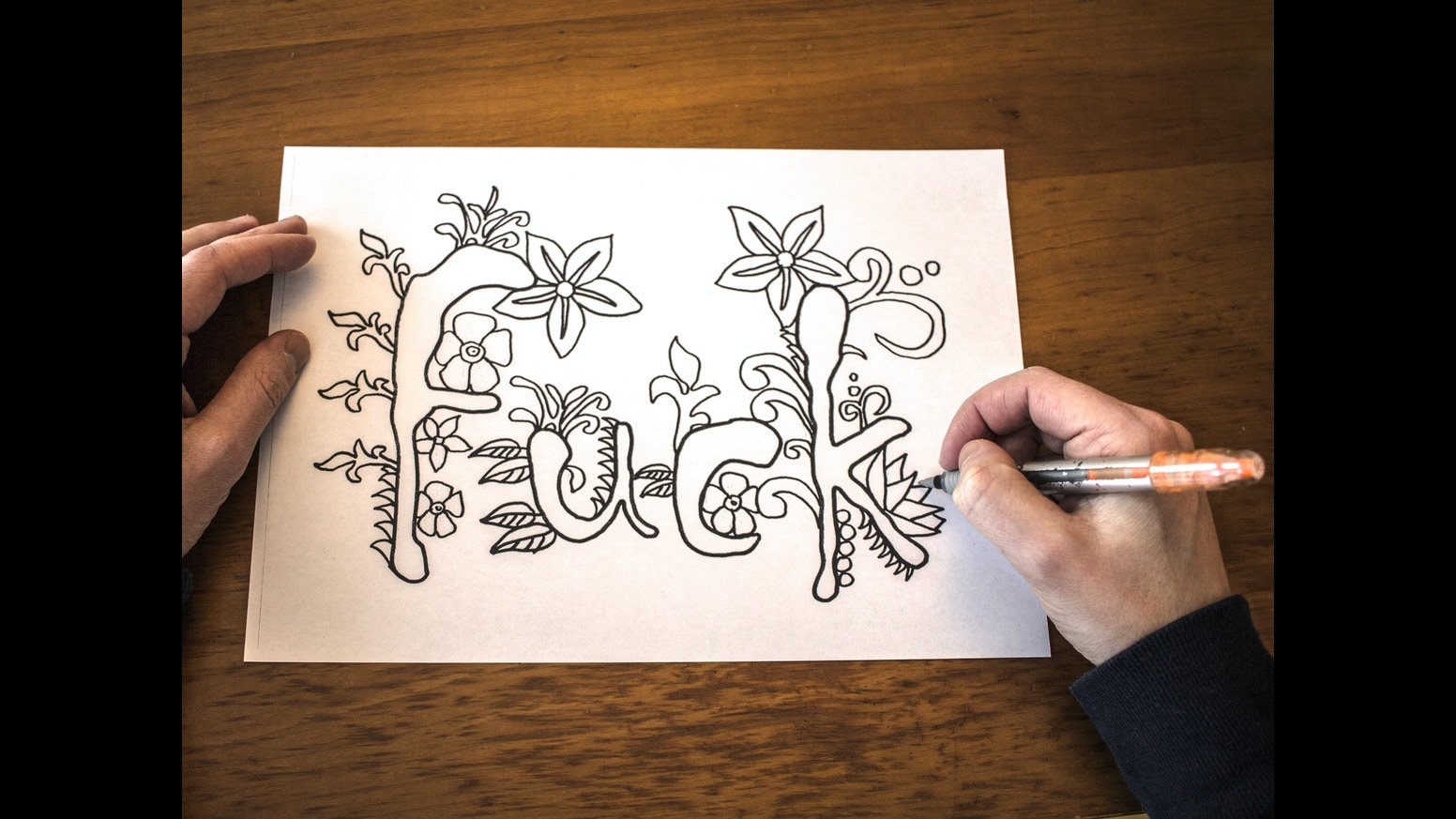 Swearing colouring in book nz - Swear Adult Coloring Book Is A Book Full Of Hand Drawn Swear Words Coloring