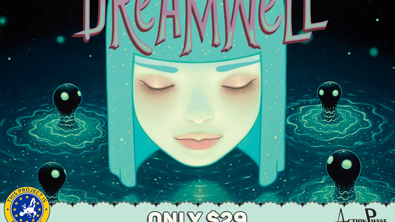 Dreamwell is a game of fantastical whimsy for 2-4 dreamers in 30 minutes featuring the art of Tara McPherson.