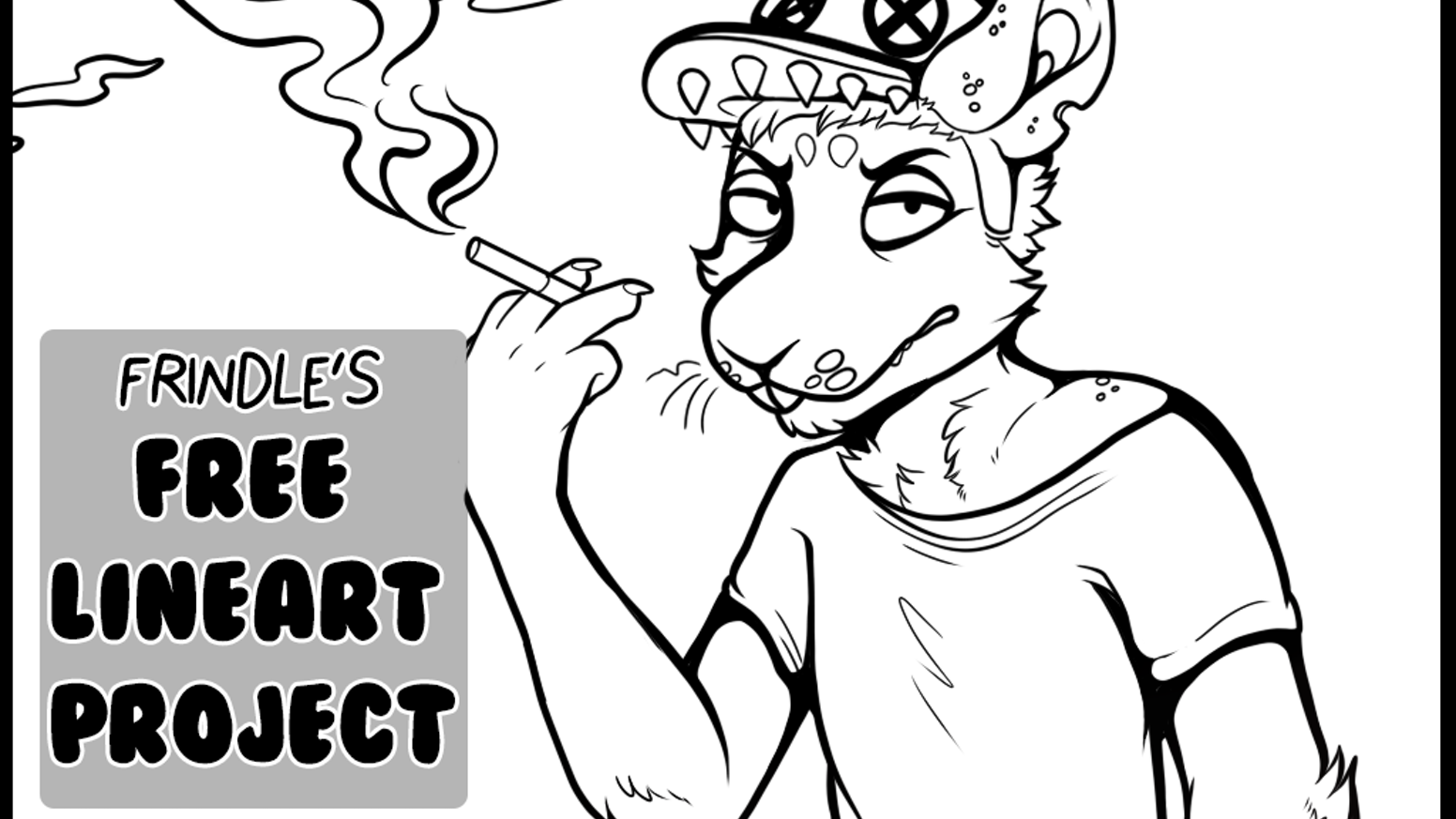 free lineart project by frindle kickstarter