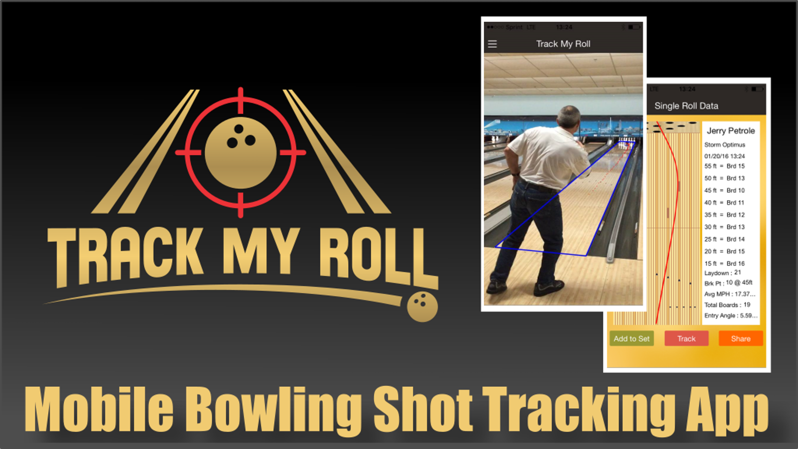 This app uses a state of the art tracking system to determine position & speed of a bowling shot from your mobile device. No tripods!!