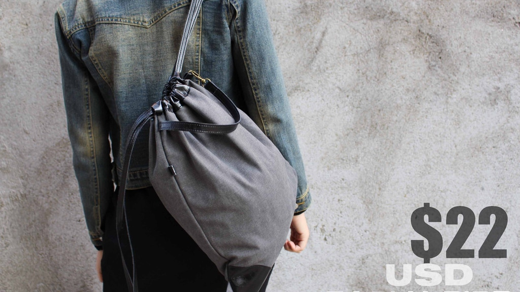 Karry relaunch: Unique Canvas Draw string bag / backpack project video thumbnail