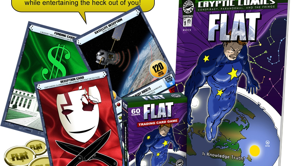 A FLAT EARTH COMIC and CARD GAME project video thumbnail