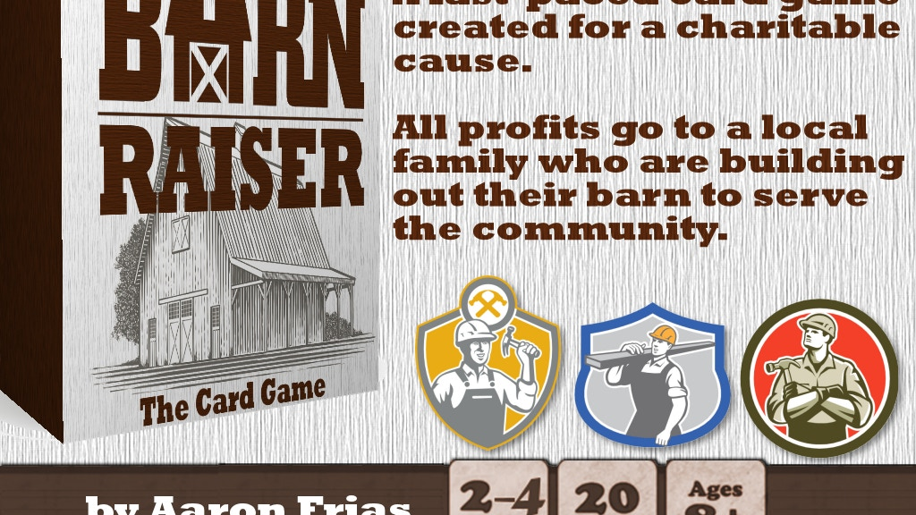 Barn Raiser: A Card Game with a Greater Cause project video thumbnail