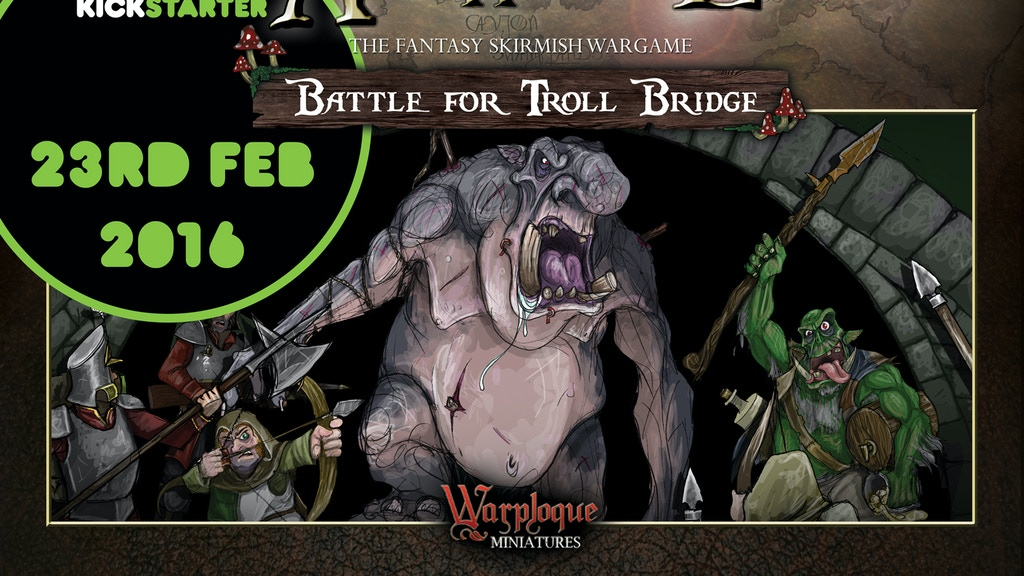 ArcWorlde - Battle for Troll Bridge: Boxed Starter Set project video thumbnail