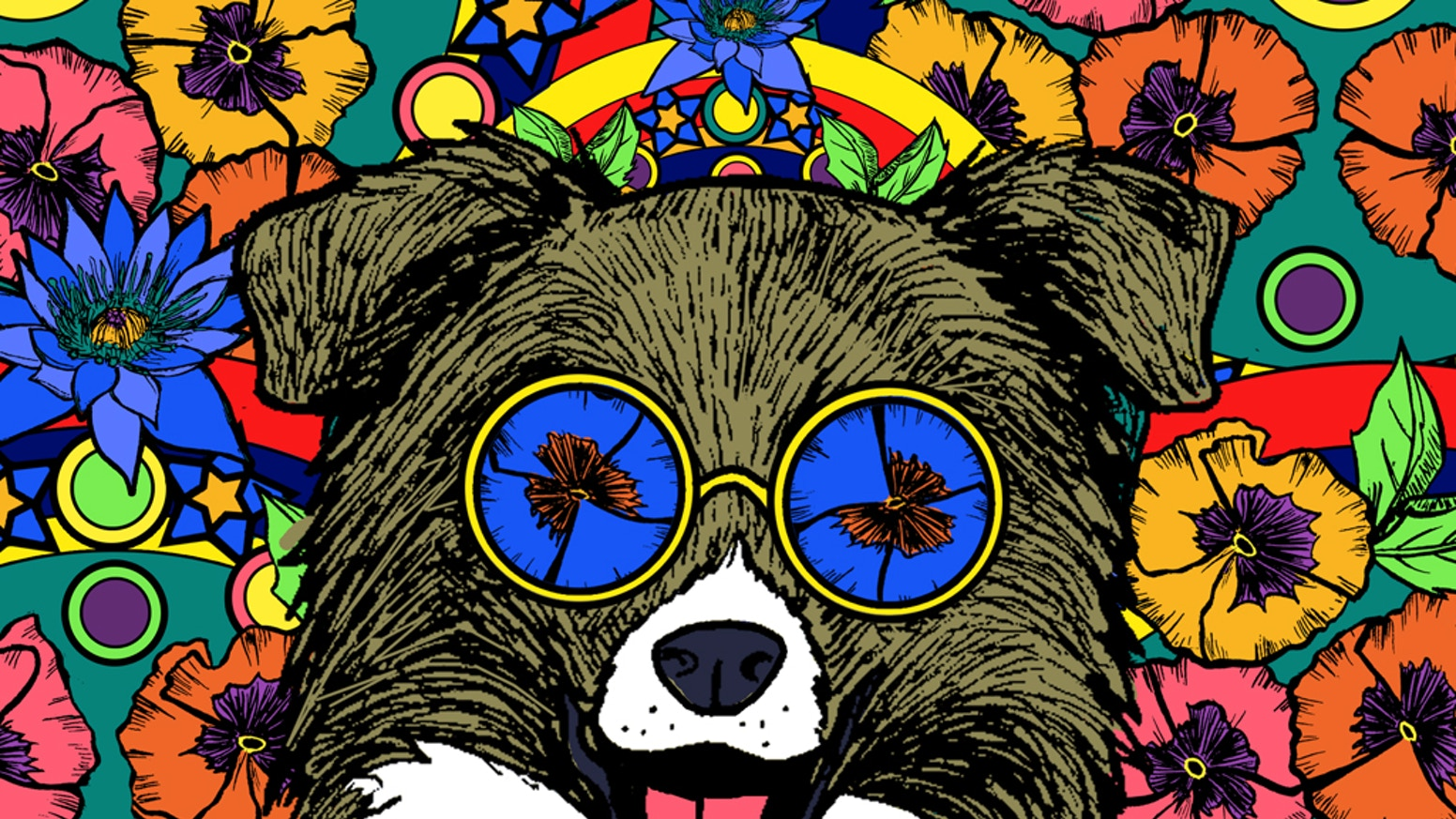Doggy Dreamers Relaxing Art Therapy Dog Adult Coloring Book