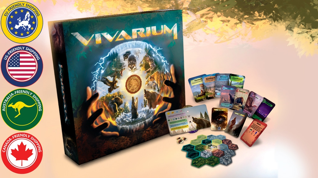 Vivarium - A wild strategy board game for 2-5 species. project video thumbnail