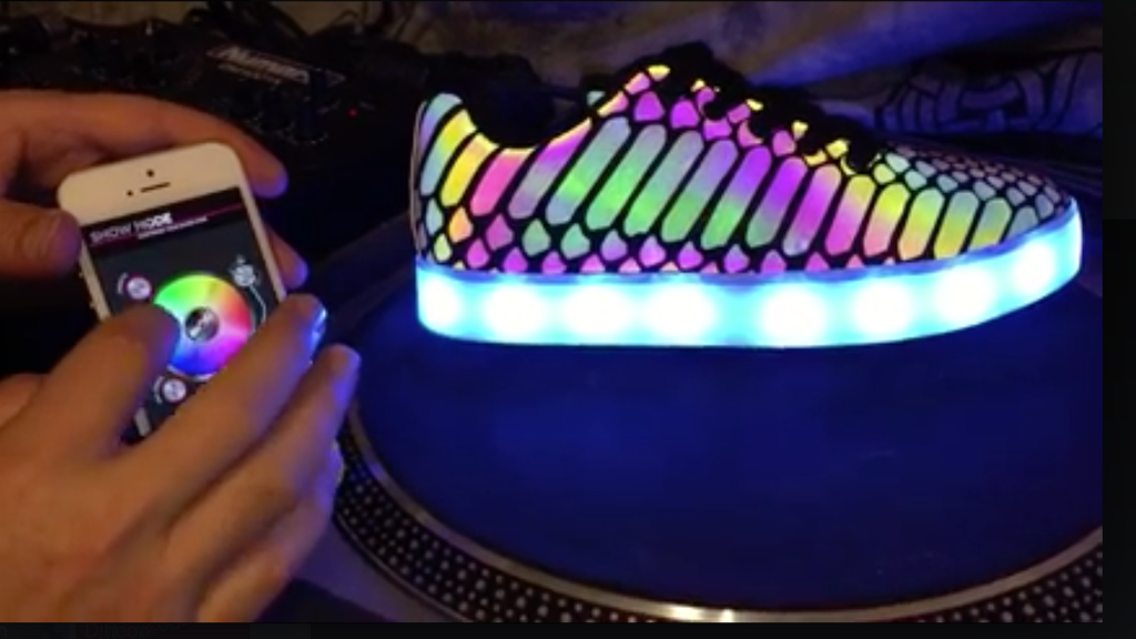 SYNC FOOTWEAR - App Controlled Led Shoes project video thumbnail