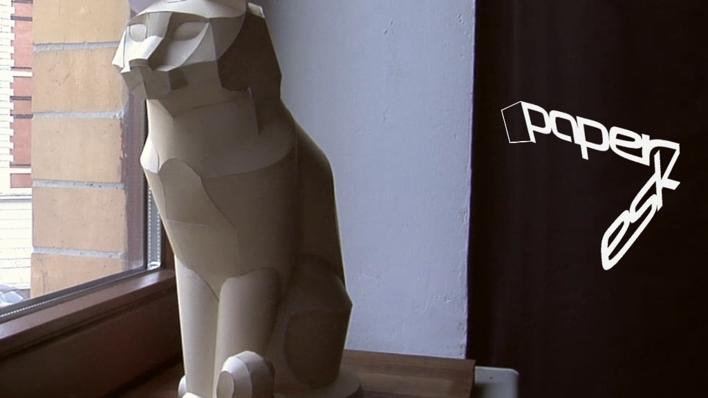 paperesk / eye catching papercraft models project video thumbnail