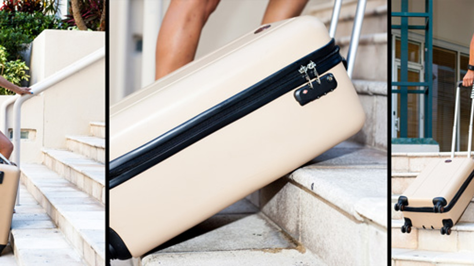 """Take the lug out of luggage."" TraxPack luggage makes the impossible, possible."
